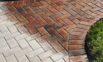 resurfacing of a brick pavement